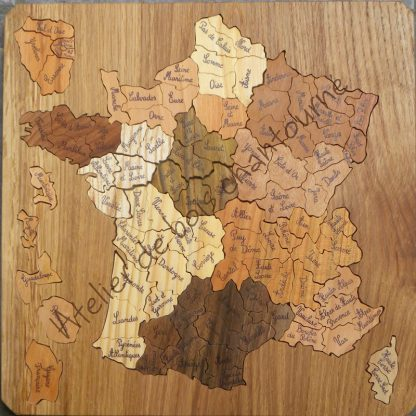 Puzzle France en bois massif