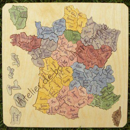 Puzzle France par départements