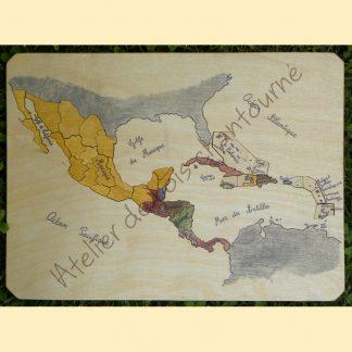 Puzzle Amérique centrale