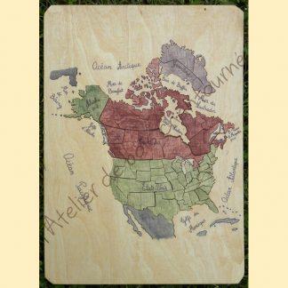 Puzzle Amérique du Nord