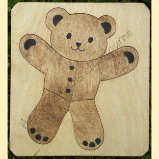 Puzzle ours en bois bio, artisanal