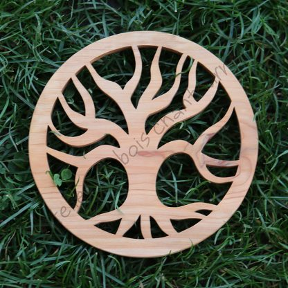 Dessous de plat arbre créé par l'Atelier de bois chantourné