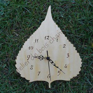Horloge feuille de peuplier