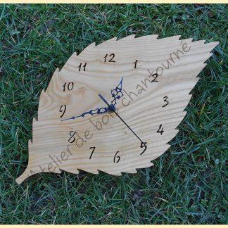 Horloge feuille de cerisier