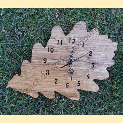Horloge feuille de chêne
