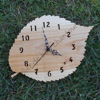 Horloge feuille d'orme