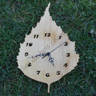 Horloge feuille de bouleau