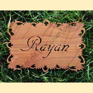 Plaque prénom Rayan