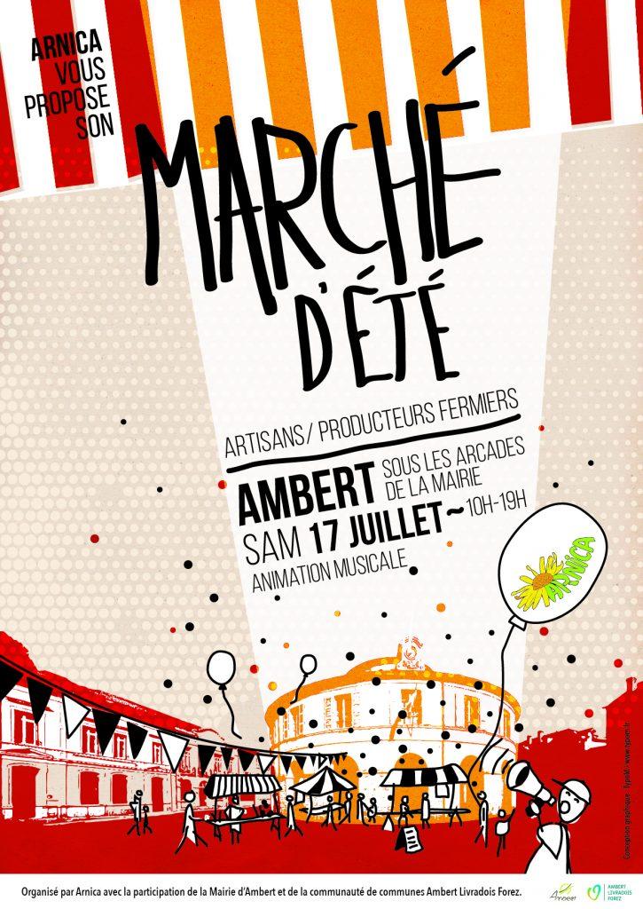 Marché d'été à Ambert le 17 juillet 2021. Artisans et producteurs locaux seront là.